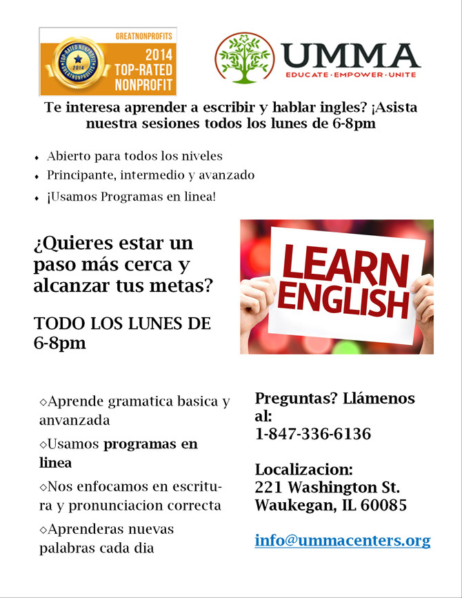 ESL Class! Come in today!