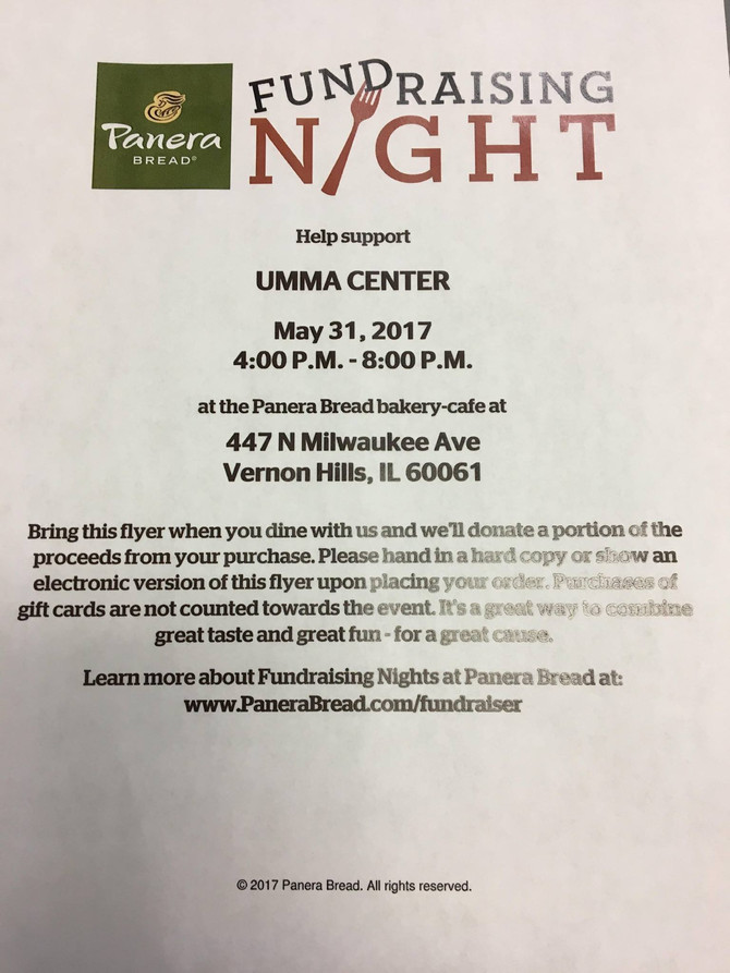 Thank you Panera of Vernon Hills