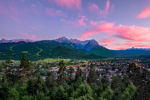 Alpenglow in Pink
