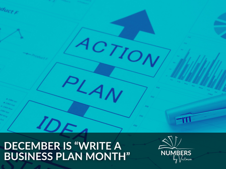 "December is ""Write a Business Plan Month"""