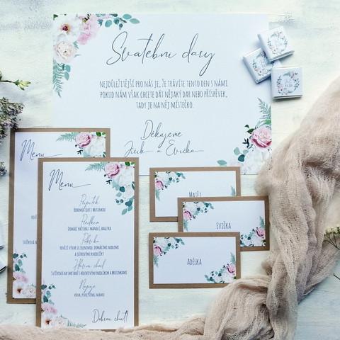 Svatební sada do růžova