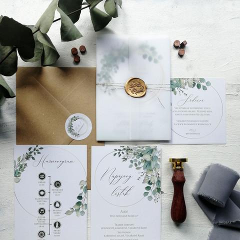 Svatební oznámení Greenery