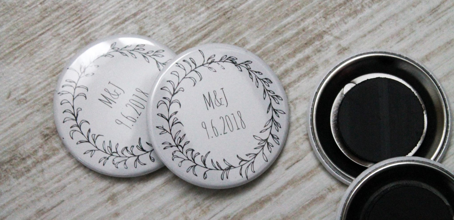 Svatební magnetky na přání