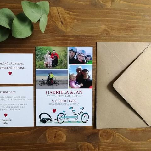 Svatební oznámení s fotkami