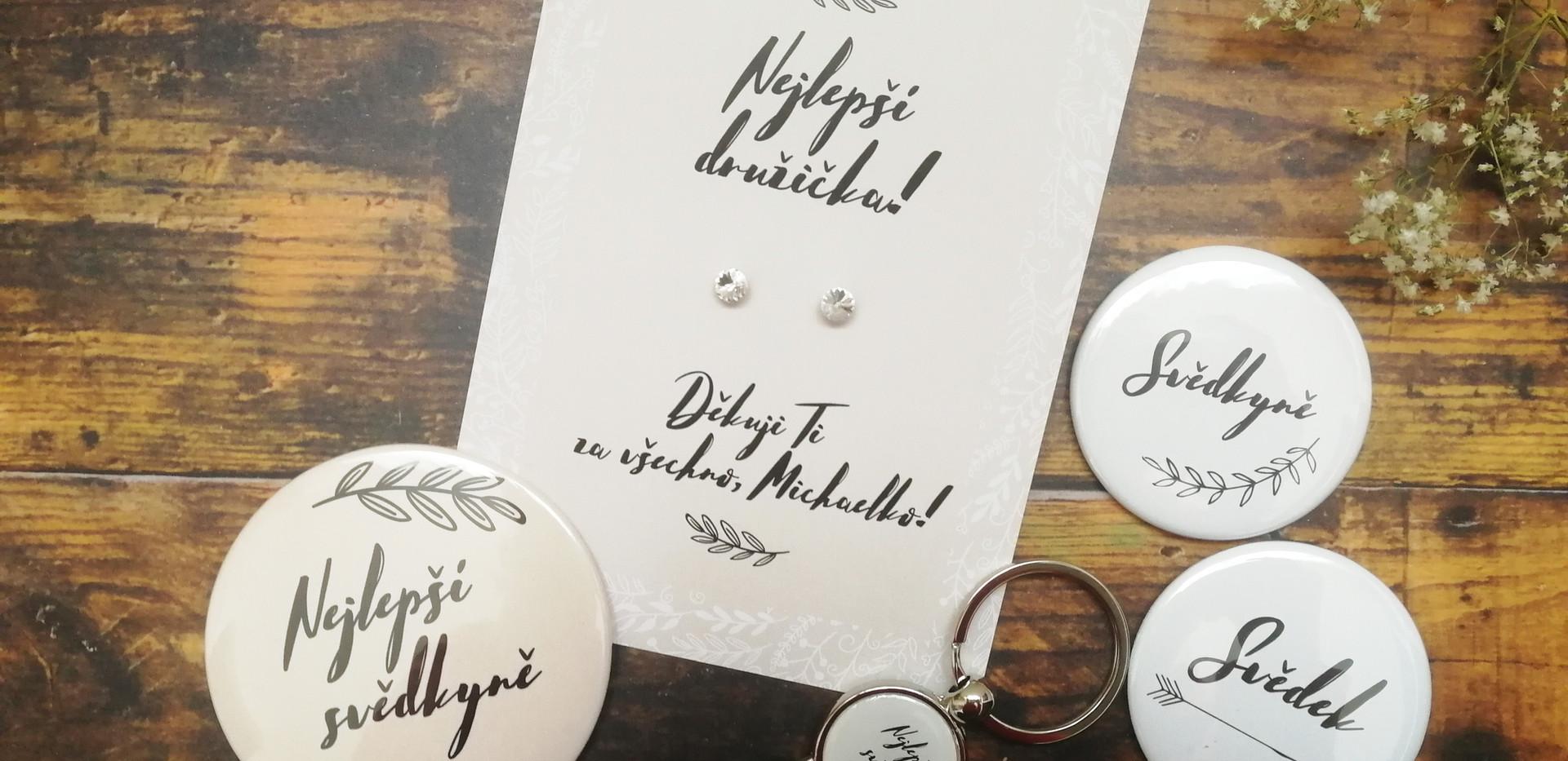Sada dárků pro svatebčany