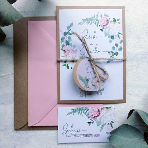 Svatební oznámení do růžova