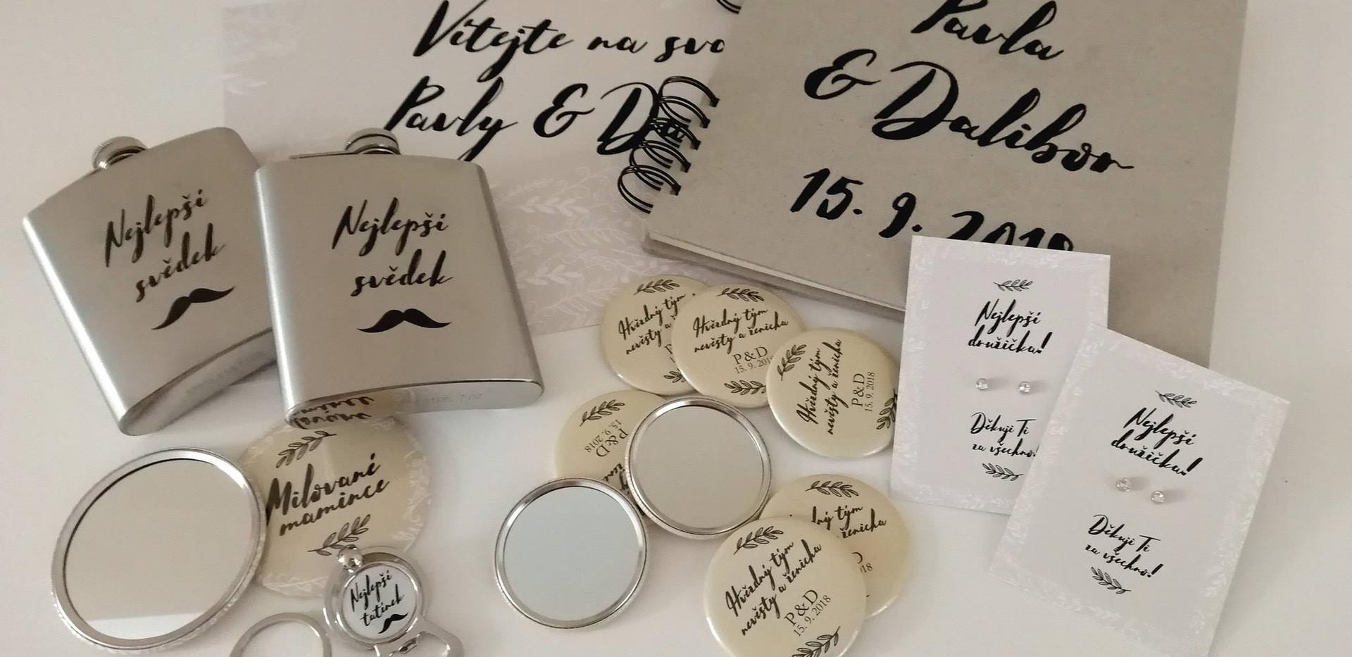 Sada dárků a tiskovin na svatbu