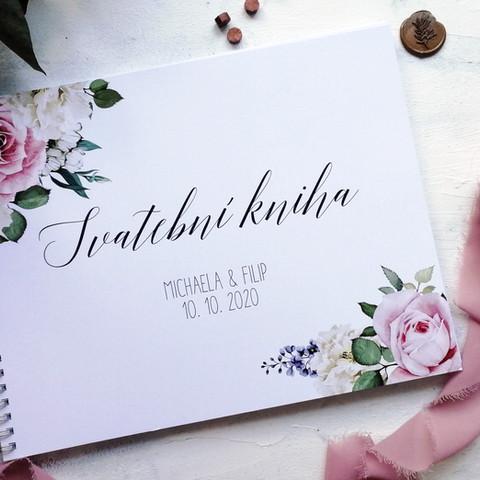 Květinová svatební kniha