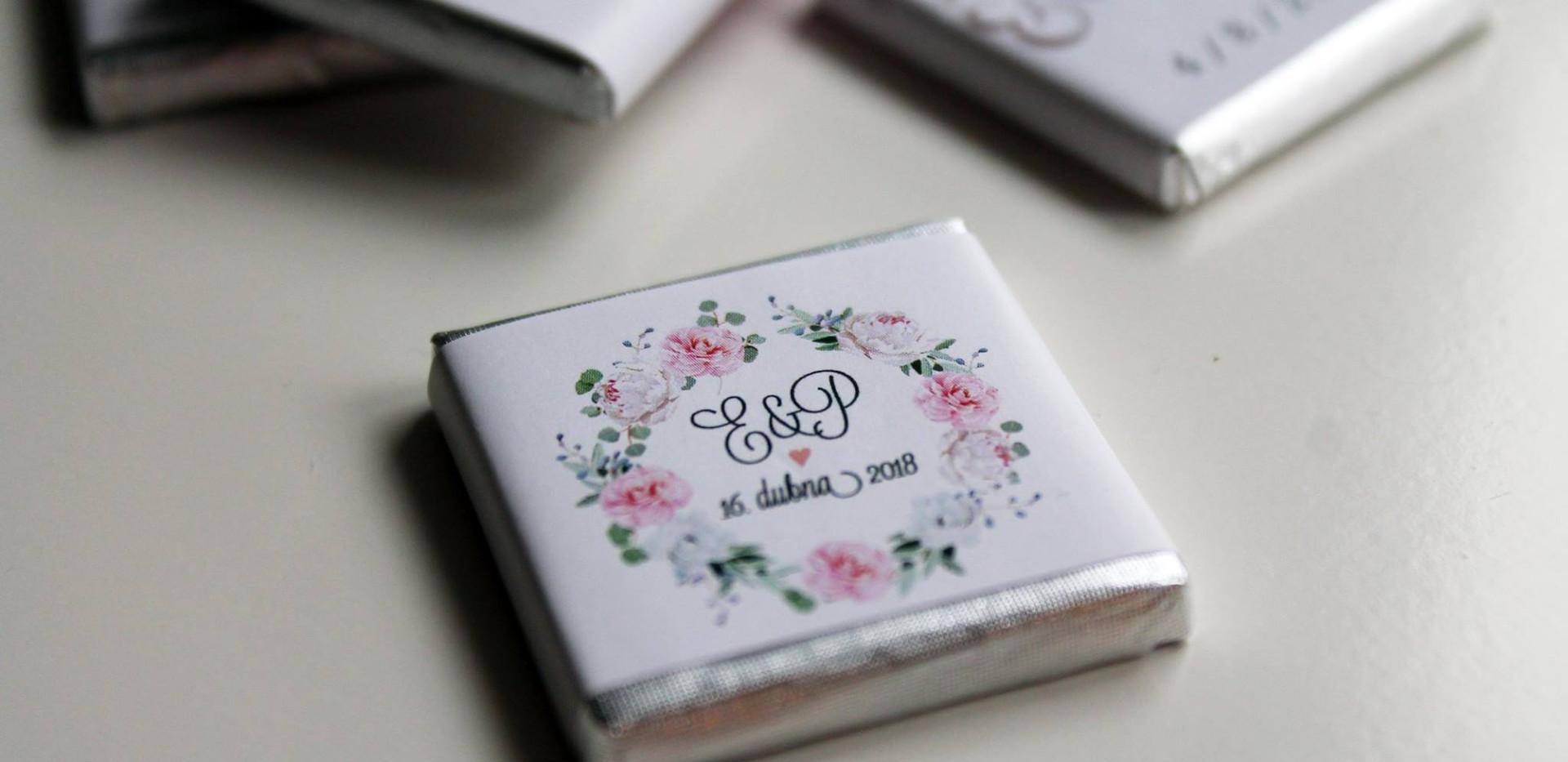 Svatební čokoládky na přání