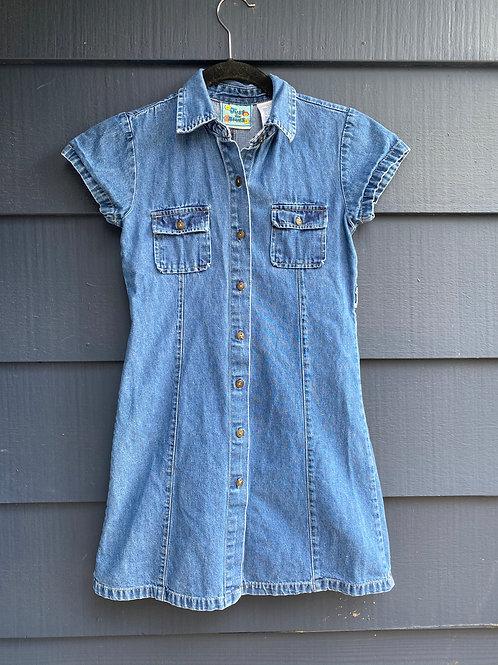 ADD YOUR CUSTOM DESIGN-KIDS Jean Dress