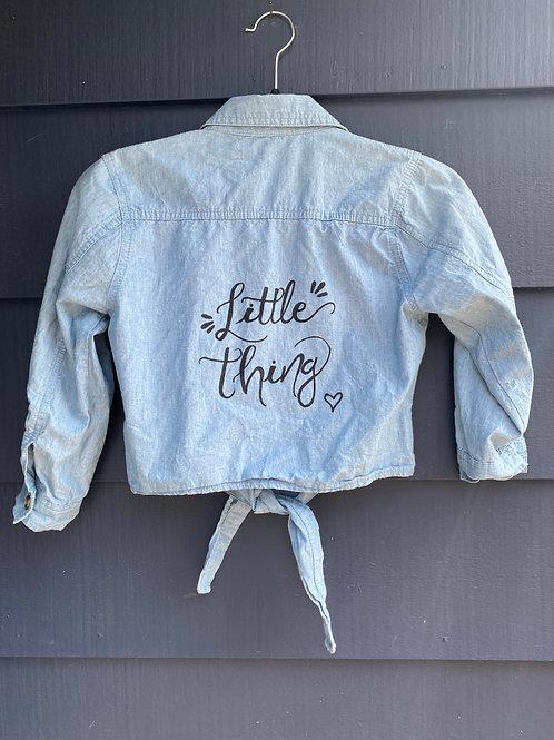 KIDS Custom Jean Jacket- Little Thing *MOMMY & ME*