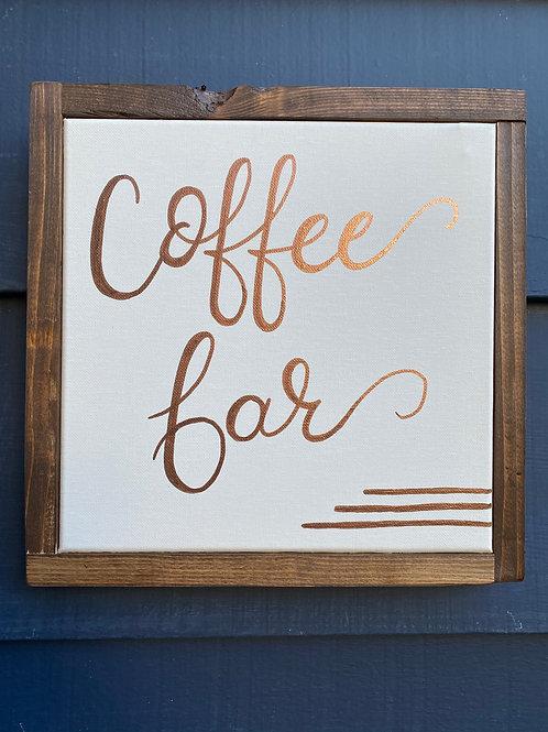 "10"" x 10""- Coffee Bar"
