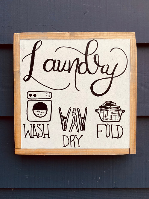 """Laundry 12"""" by 12"""""""