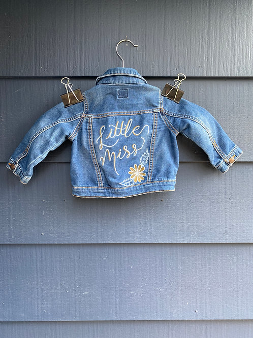 KIDS Custom Jean Jacket- Little Miss