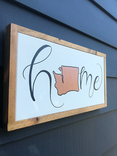 "12"" x 24"" Wood Framed Canvas- ADD YOUR STATE!!"