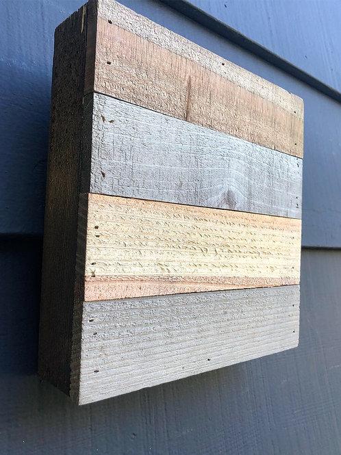 """9"""" x  9"""" Shiplap Mixed Tones- Wood Square"""