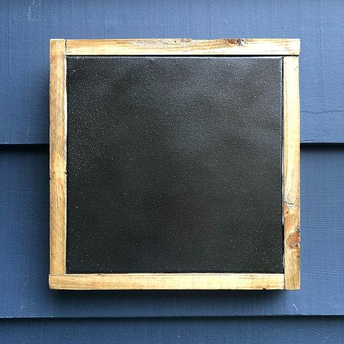 "12"" x 12"" Solid Wood Textured Black Framed"