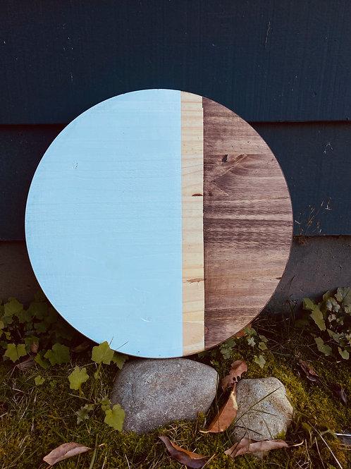17 inch wood round-Espresso Stain