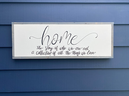 "14"" x 36""- HOME"