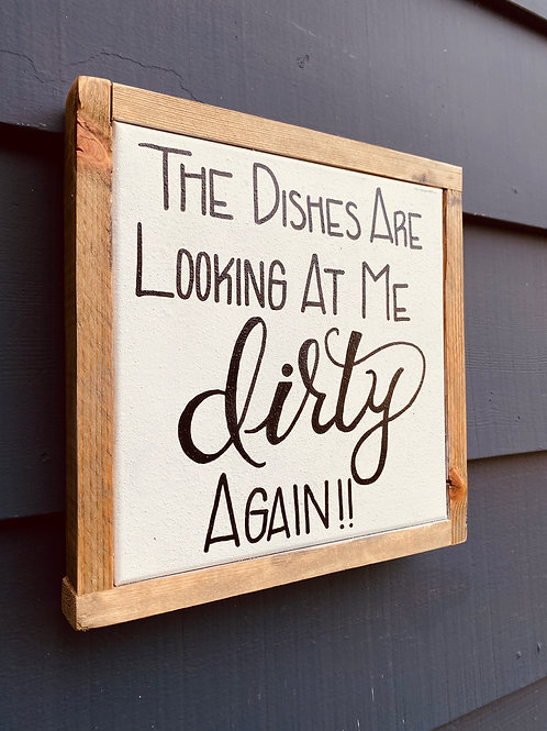 """Dirty Dishes 10"""" X 10"""""""