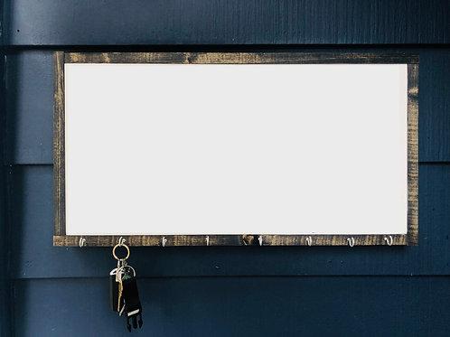 """12"""" x 24"""" Key Holder-Solid Wood Framed"""