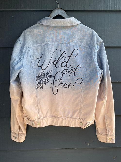 Custom Jean Jacket- Wild and Free