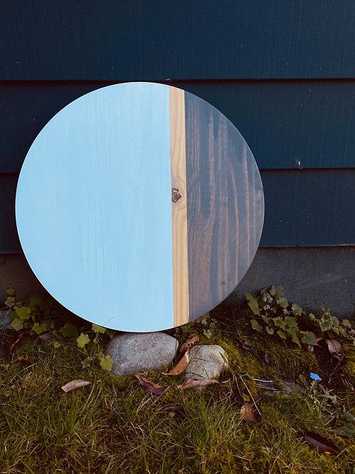 22 inch wood round- Grey Wash Stain