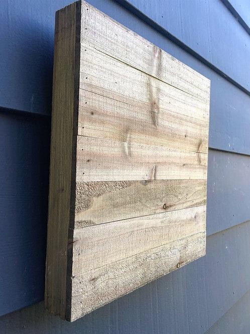 "12"" x 12"" Shiplap Natural- Wood Square"