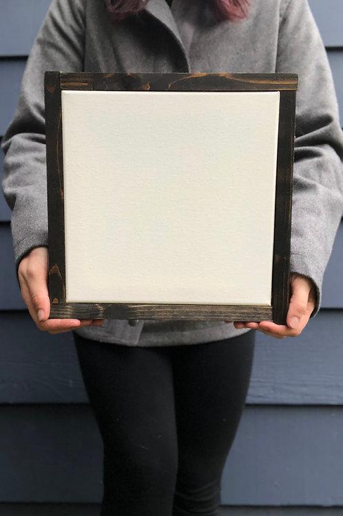 "10"" x 10"" Solid Wood Framed"
