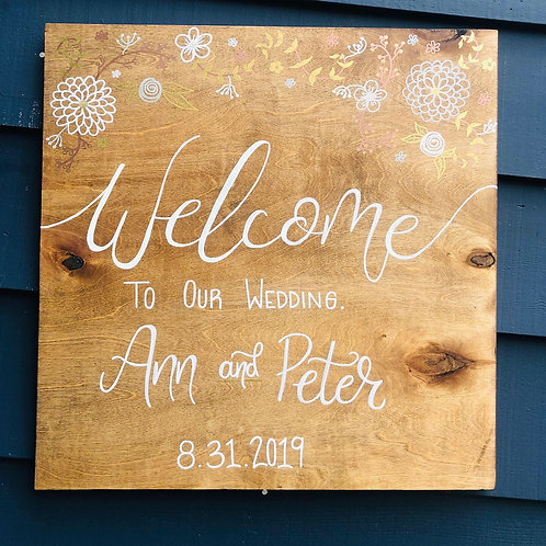 CUSTOM Welcome To Our Wedding