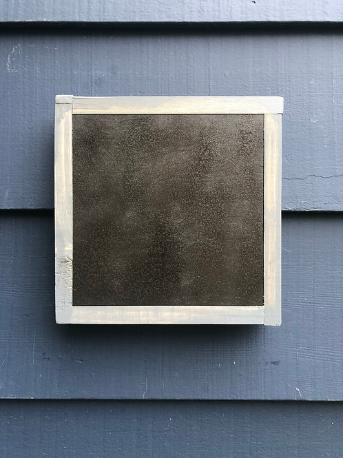 "7"" x  7"" Solid Wood Textured Black Framed"