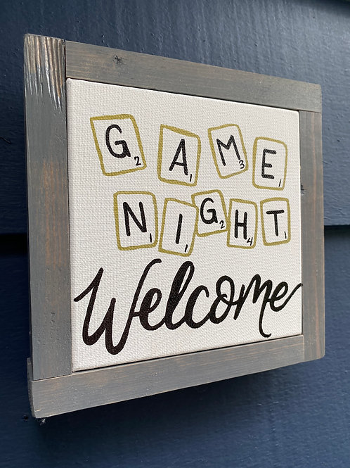 "7"" x 7"" Game Night Scrabble"