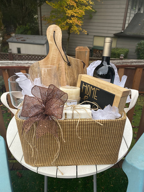 """Gift Basket With Custom 7""""Sign"""