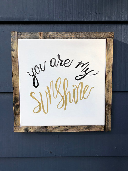 "10"" Wood Framed Canvas- Sunshine"