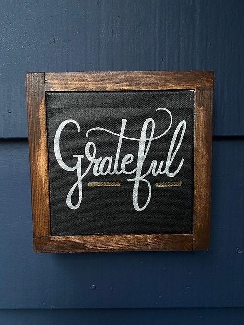 """7"""" x 7"""" Grateful"""