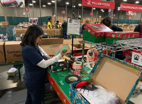 MJ associates in action: Operation Christmas Child