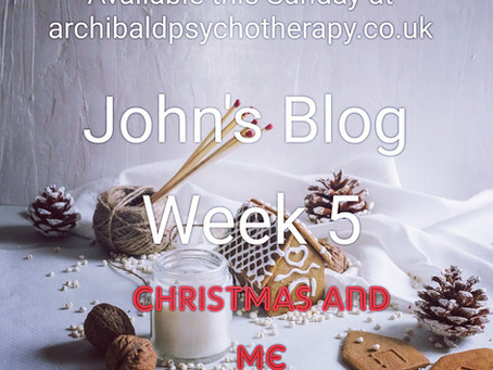 Johns blog continues this week with Christmas
