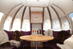 Champagne in the pod