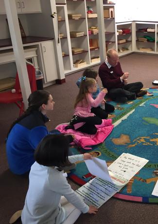 Volunteering in Godly Play.
