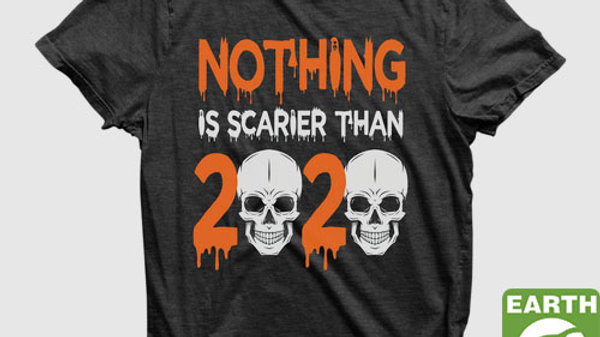 Eco Friendly Recycled Halloween 2020 Unisex T-Shirt