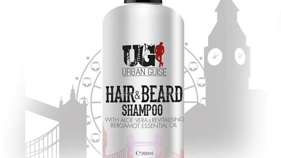 Energising Hair and Beard Shampoo 200ml (Organic)