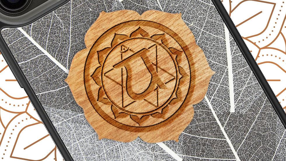 Chakra Yoga Symbol - Heart Chakra - Skeleton Leaves