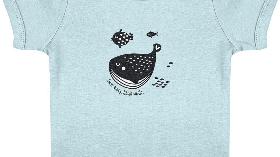 Swim Away Short Sleeve Organic Cotton Baby T-Shirt