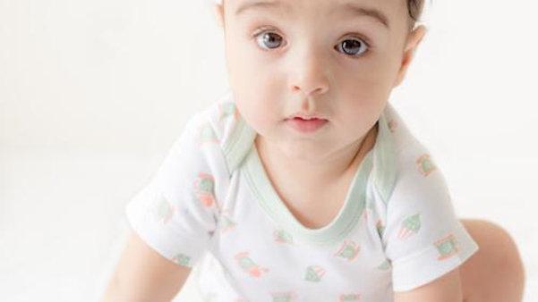Li'l Birdie's Tea party:  Printed Unisex Organic Baby Bodysuit