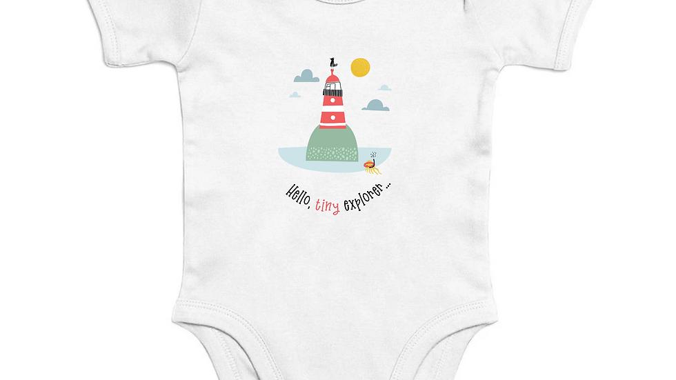 Tiny Explorer Short Sleeve Organic Baby Bodysuit