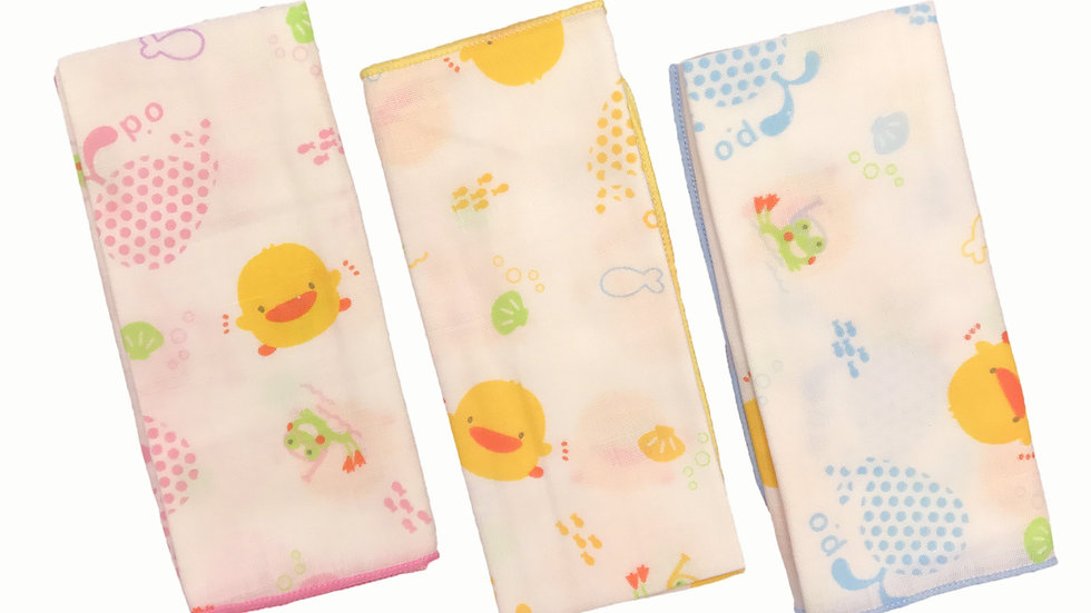 100% Cotton Handkerchief 3pcs
