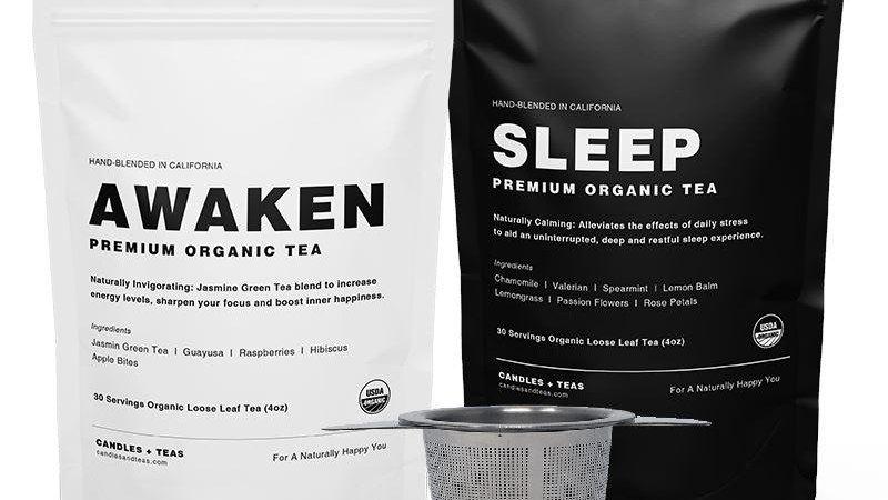 Sleep + Awake Tea: Natural Energy to Function at Peak Capacity (incl. Strainer)