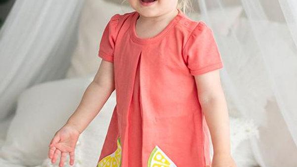 Citrus Garden: Organic A-Line Baby Girl Dress and Panty set