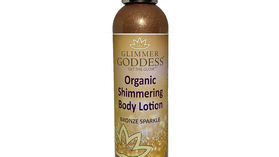 Organic Bronze Shimmer Body Lotion