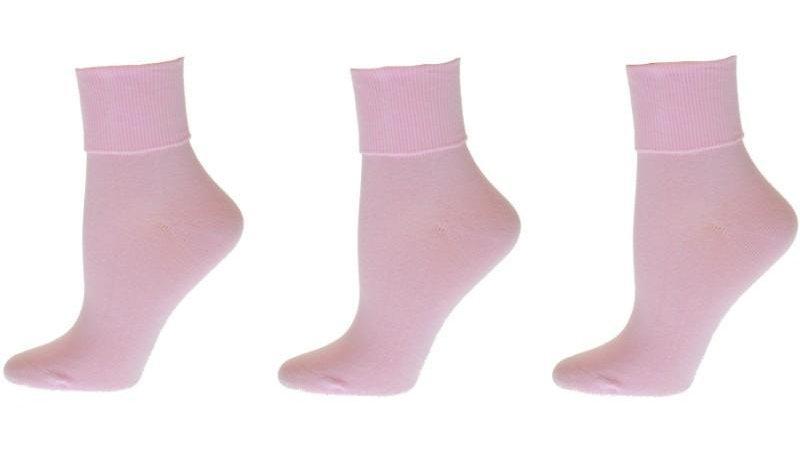 Turn Cuff Organic Cotton Seamless Toe 3 pair Pack W1211